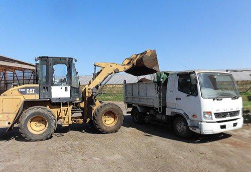 堆肥の出荷